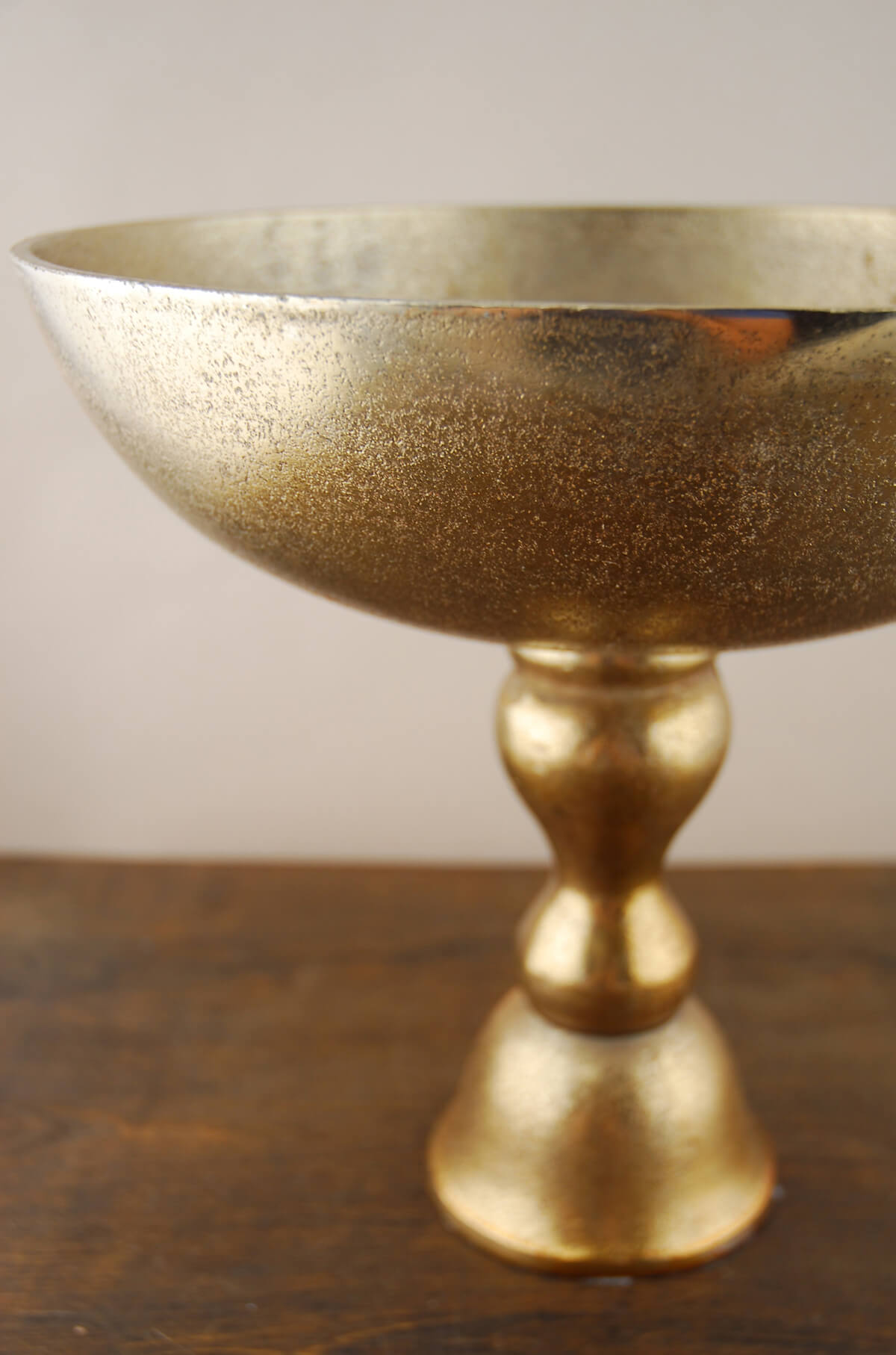 Gold Dorado Pedestal Bowl 12in X 11in