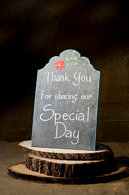 Large Metal Zinc Chalkboard Placard Sign 14x9