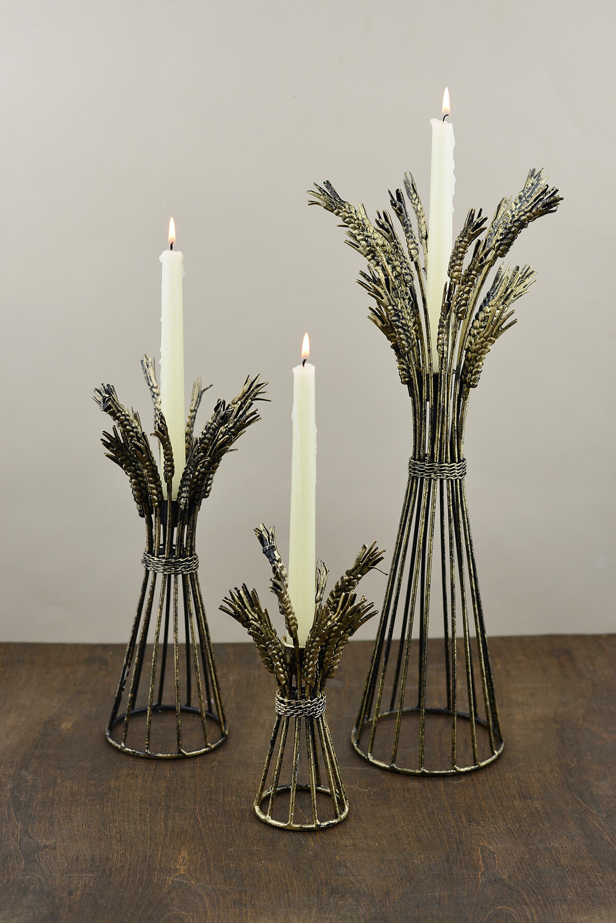 Of three harvest taper candle holders 9 13 19 tall set of three harvest taper candle holders 9 13 19 tall reviewsmspy