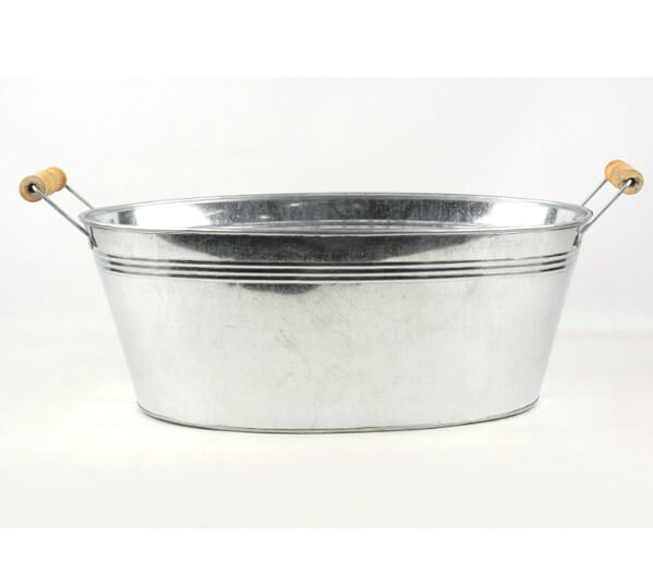 Galvanized Tub Oval 15 Inch