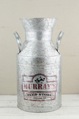 "Murray's Feed Store 15.5"" Metal Milk Can"