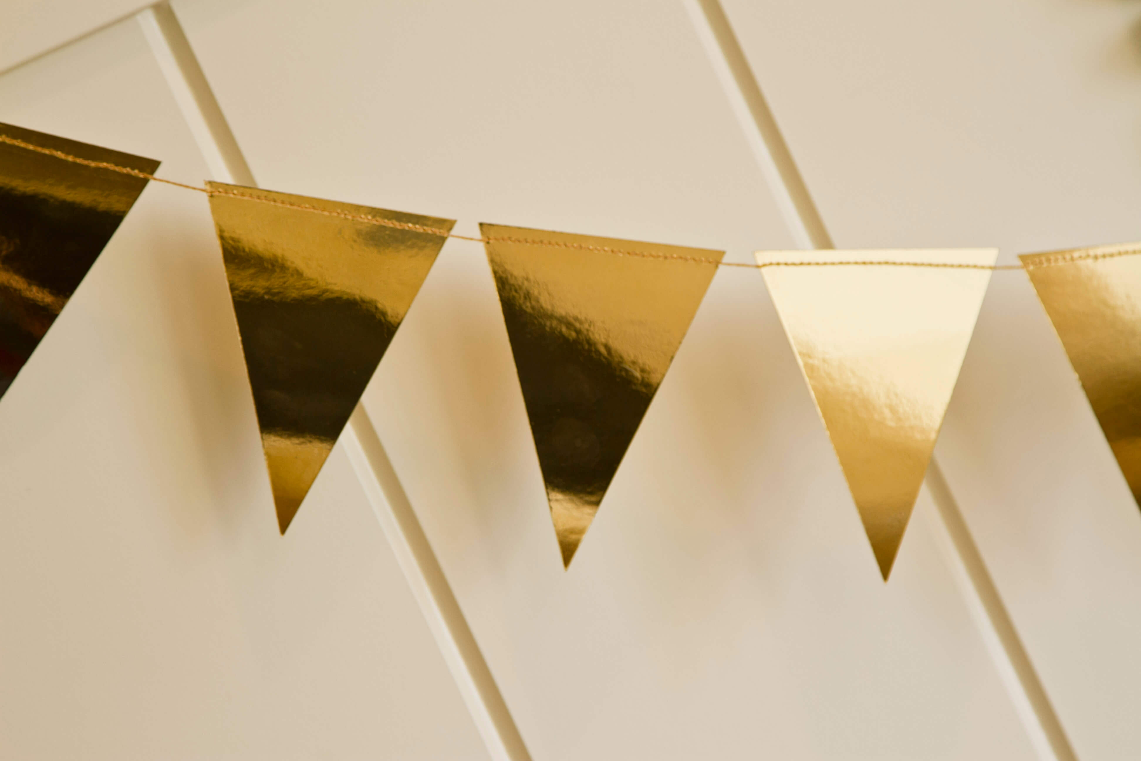 gold foil mini pennant banner 8u0027 my minds eye