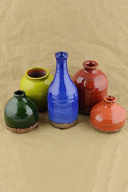 Mini Ceramic Vases (Set of 5)