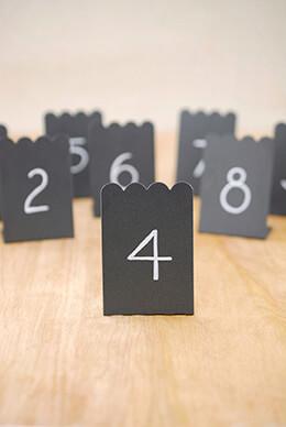8 Mini Chalkboards Placecards  2x3  Zinc