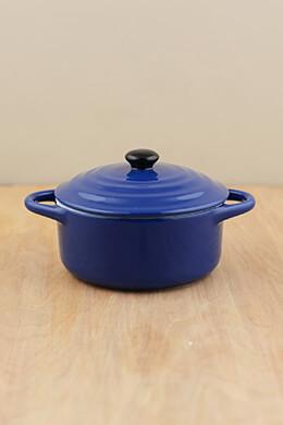 Mini Cocotte Stoneware Blue