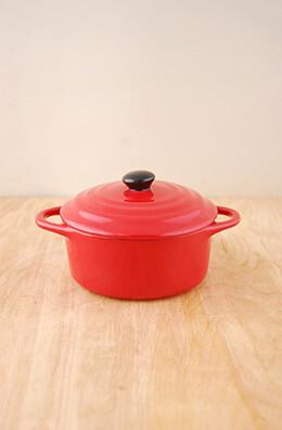 Mini Cocotte Stoneware Red