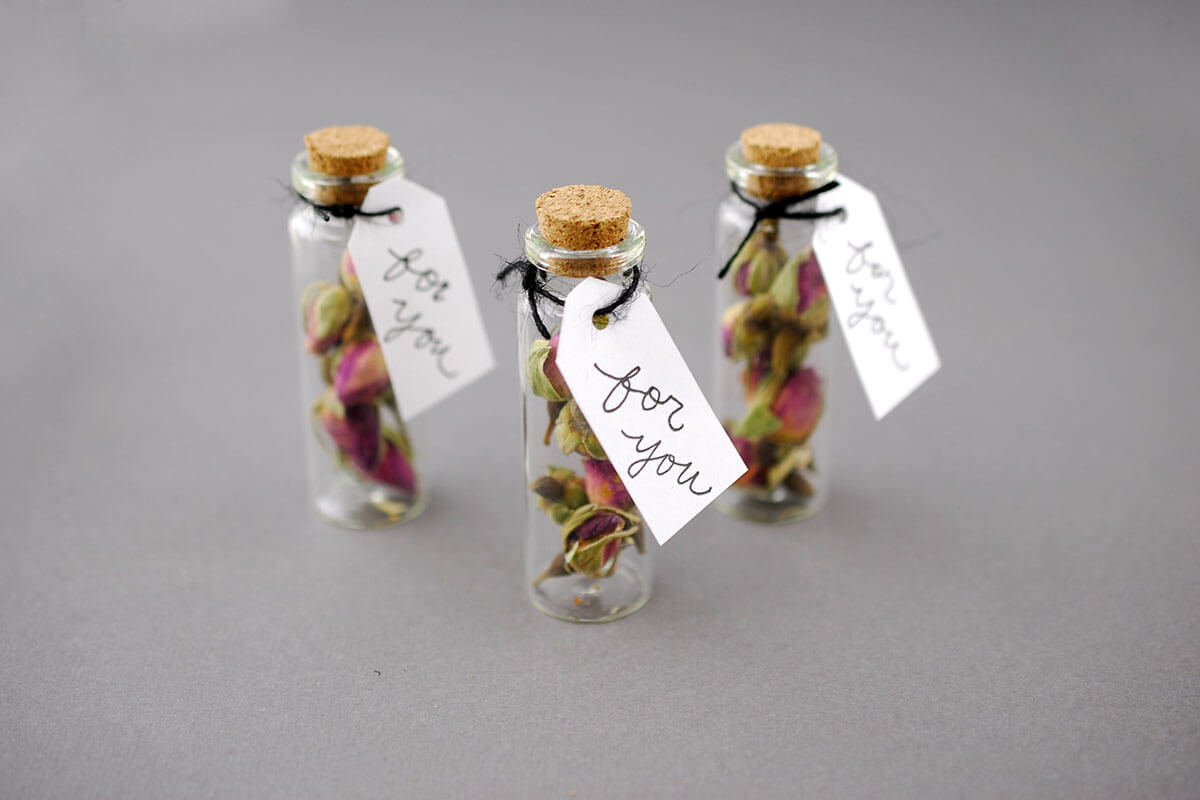 Mini Glass Bottles With Cork 20ml 265in Pack Of 12