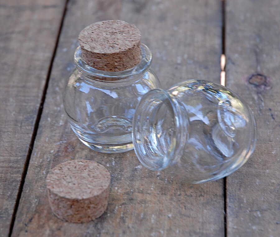 24 Mini Honey Jars With Cork Tops 1 2oz