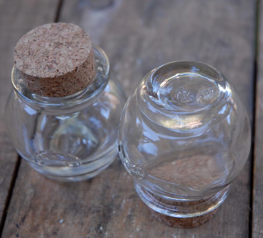 24 Mini Honey Jars with Cork Tops 1.2oz