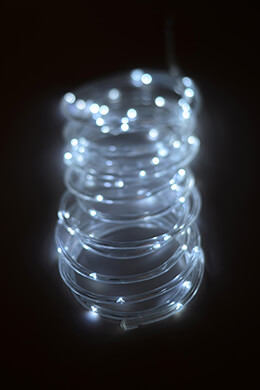 Battery Operated Mini LED Rope Light Cool White 15ft - 60ct