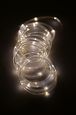 Mini LED Rope Light Warm White 15ft - 60ct