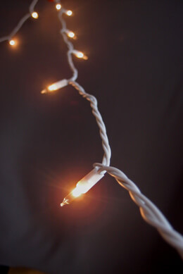 100 Indoor Mini String Lights 60 Feet White Cord