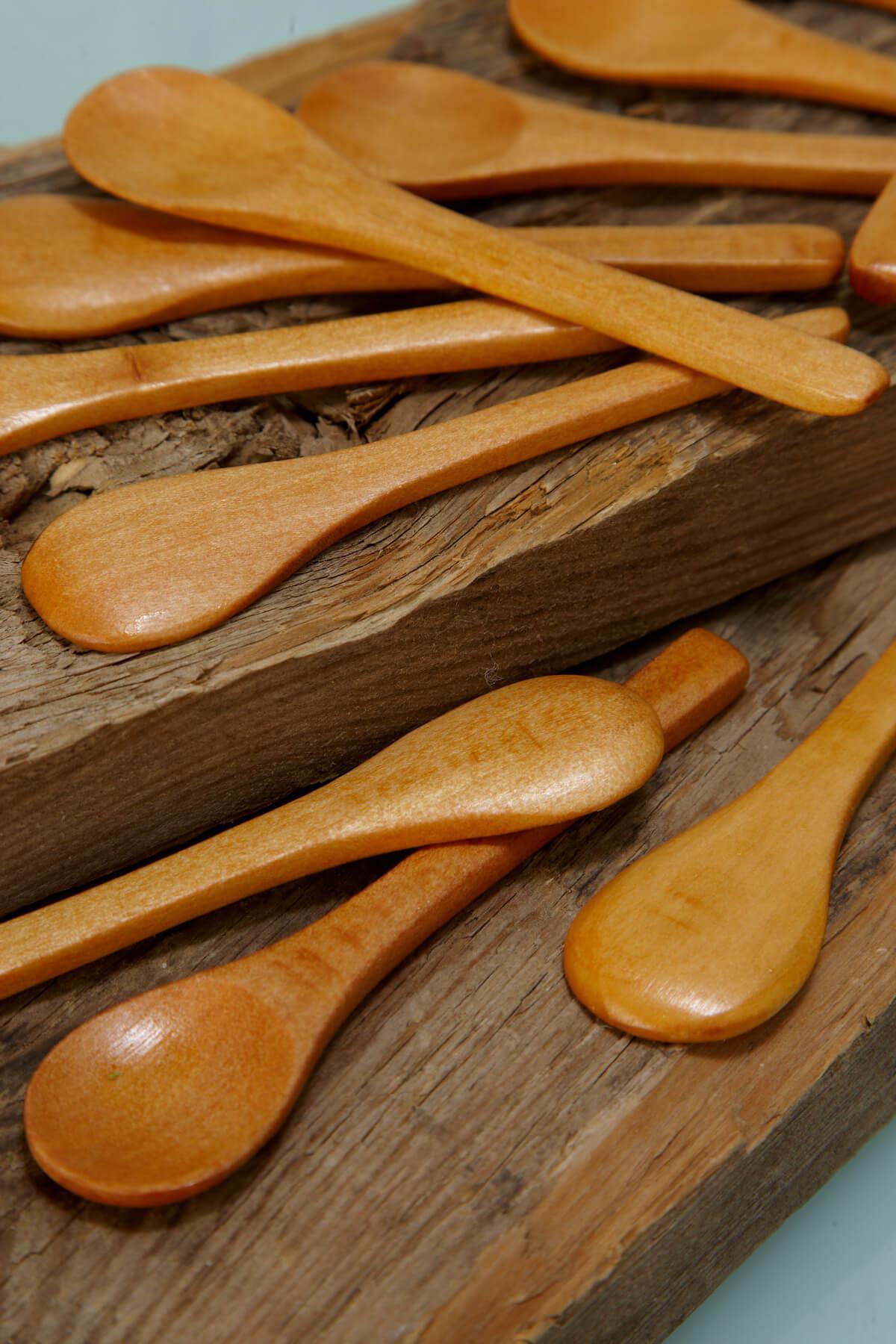 ... Bamboo Wood 3.5  Spoons - Bag ... & Mini Wood Spoons