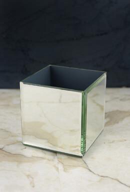 Mirror Cube Riser 4 Inch Square