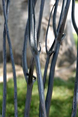 "Graphite Black Natural Mitsumata Branches (3 Branches) 45-50"""