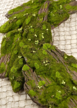 Foam Moss Tree Bark  14 X 6.5in