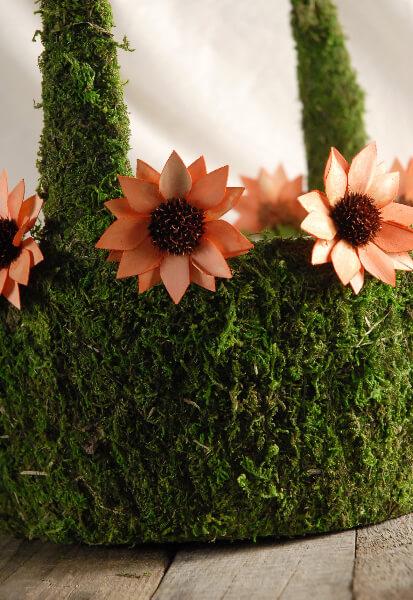 Moss Covered Baskets Medium 14 x 9  Wedding Decorations