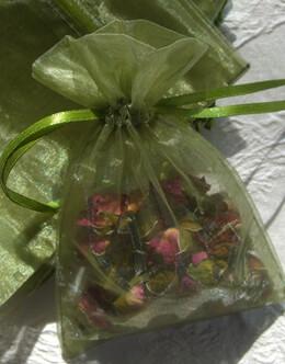 10 Moss Green Organza 4x6 Favor Bags