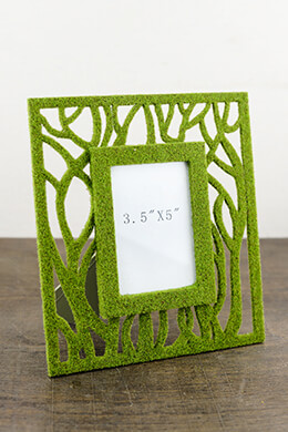 Moss Picture Frame  Green 8x9