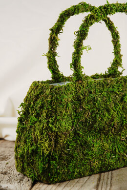 Moss Covered Purse Large 9.75in