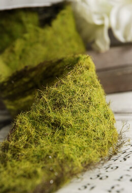 "Faux Moss Covered Ribbon 2"" x  42"""