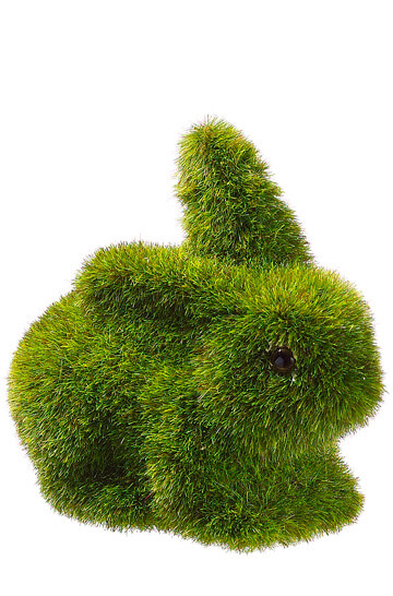 Moss Covered Bunny Rabbit 3 5in