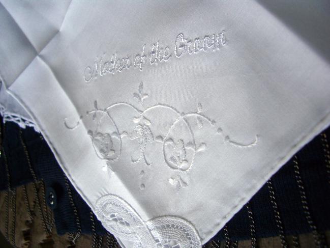 Wedding Handkerchiefs MOTHER OF THE GROOM