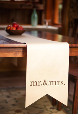 3 Mr. & Mrs. Paper Table Runners 12x90, Rustic Wedding Chic Collection