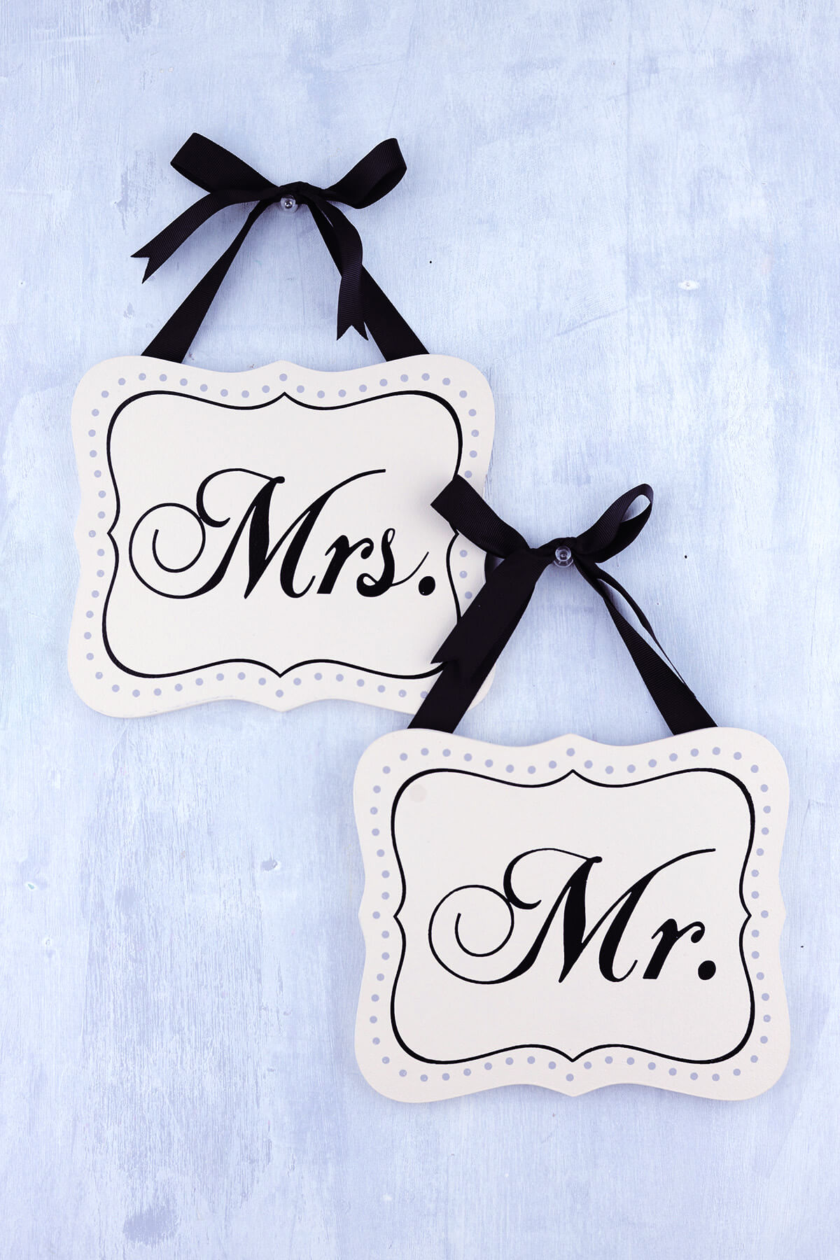 Mr & Mrs Chair Signs 7in