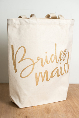 Bridesmaid Canvas Tote by Mud Pie