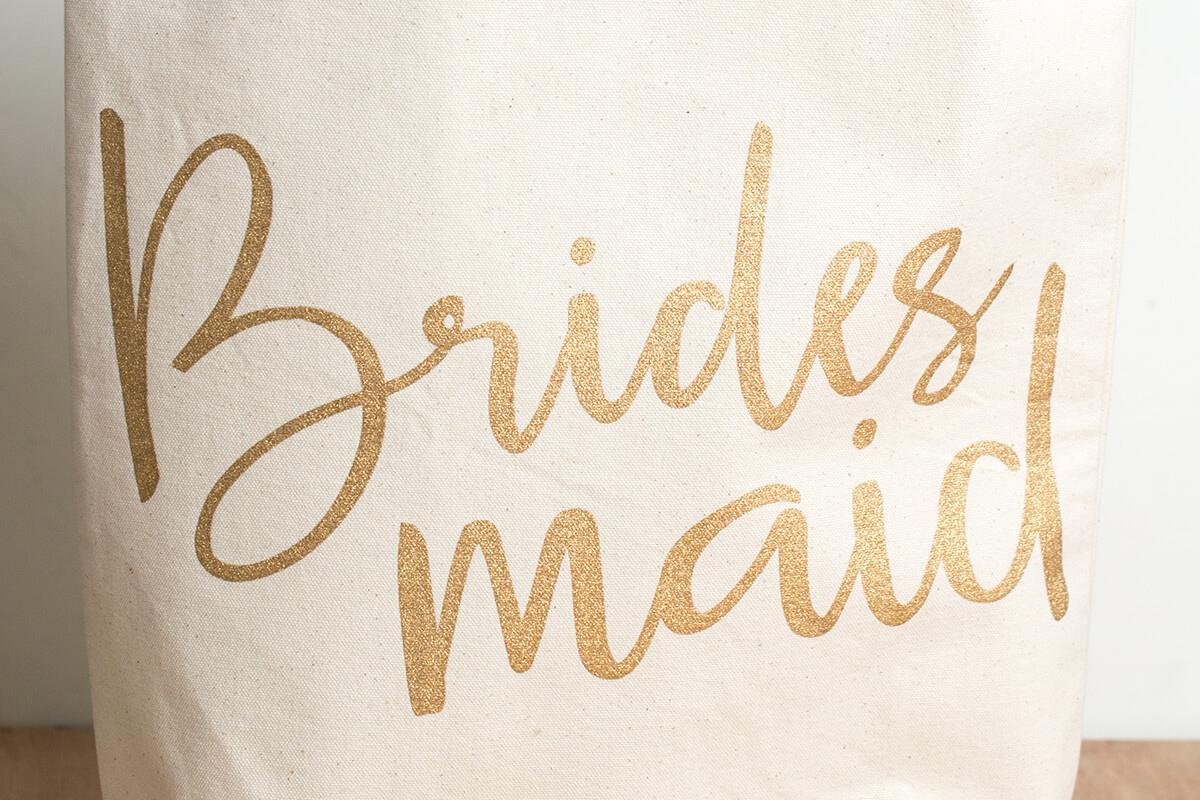 Bridesmaid Canvas Tote by Mud Pie