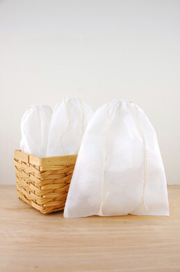 Muslin Favor Bags White 10x12in (Pack of 12)