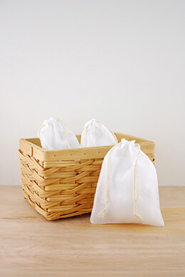 Muslin Favor Bags White 5x7in (Pack of 12)