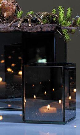 """Myriad Mirror Candleholder 3.25""""x 4"""""""