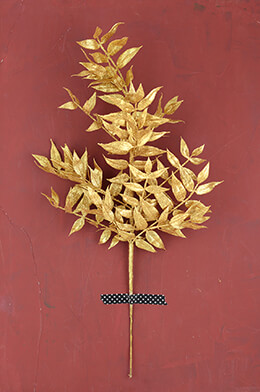 Nandina Leaf Spray Gold 21.5in