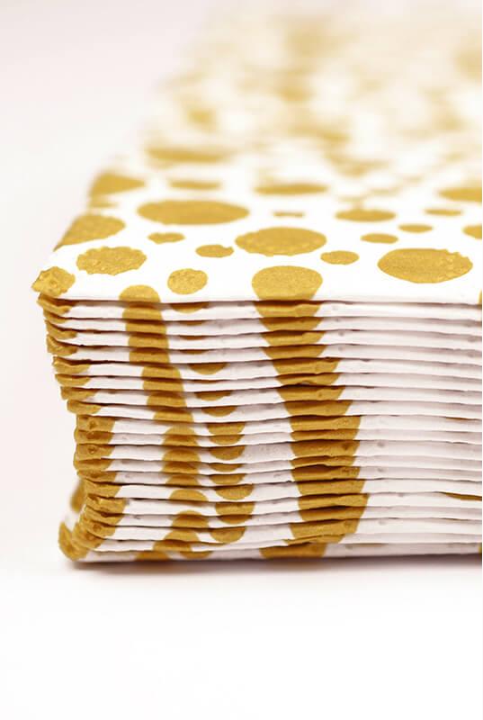 "Sparkling Gold Dot Square Napkins 6.5"""
