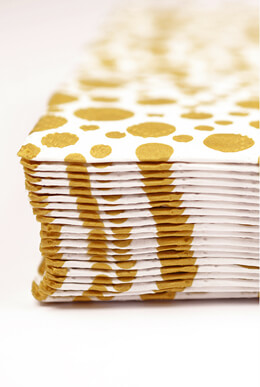 Sparkling Gold Dot Square Napkins 6.5""