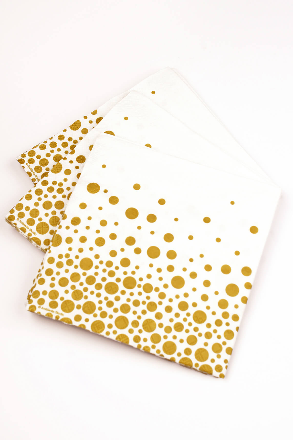 Sparkling Gold Dot Square Napkins 6 5 Quot