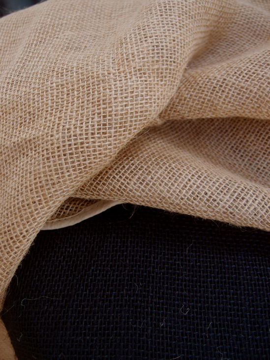 Round Burlap Tablecloth Finished Edges 60 Quot
