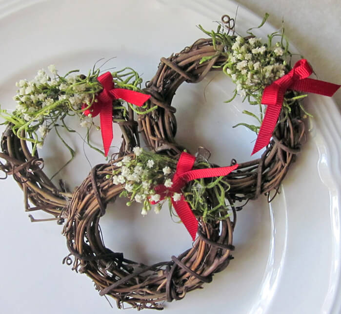 Making Natural Christmas Decorations: Natural Grapevine Wreath Napkin Rings, 3 Inch, Pack Of 12
