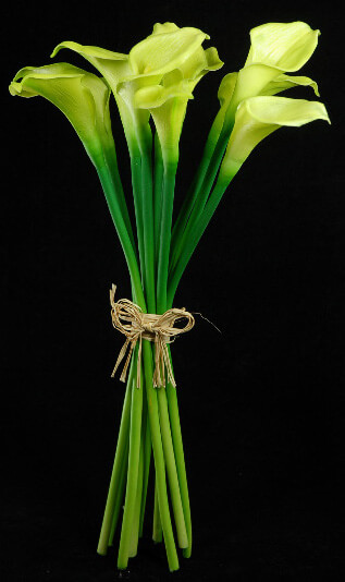 Natural Touch Hand Tied Green Calla Lily Wedding Bouquet 14 Quot