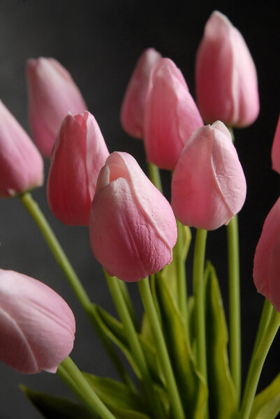 Artificial Tulips Pink 12 Flowers