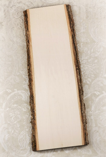 Wood plank with bark quot