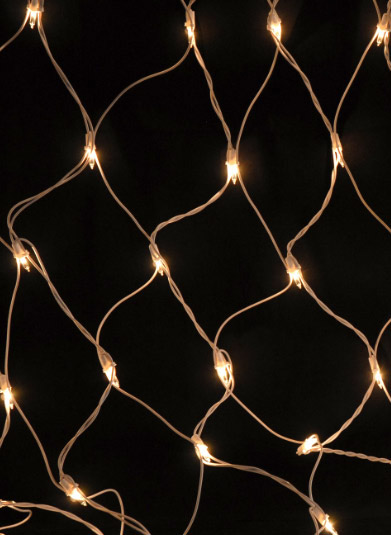 Long Net Lights 150 Bulb String Lights 2x8FT White Cord, Weatherproof