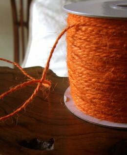 Jute Twine Orange 100 yds