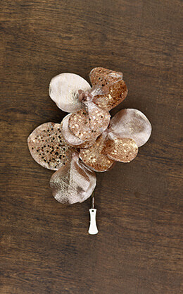 Orchid Rose Gold Clip 8.5in