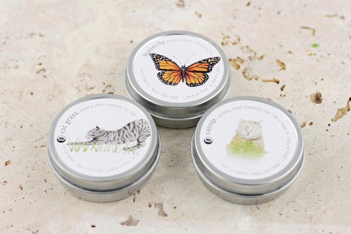 Organic Butterfly Garden Favor Gift Tin
