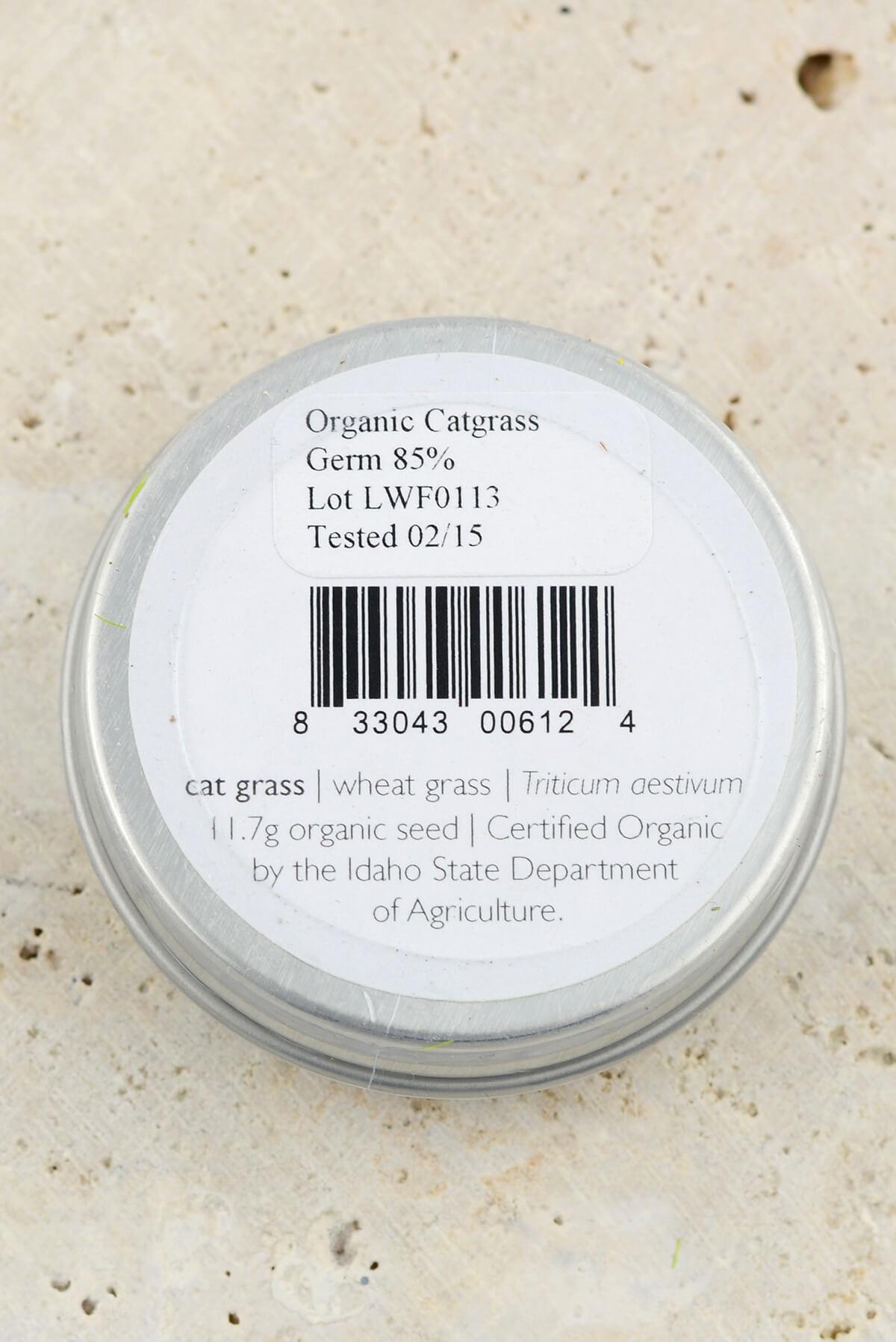 Organic Cat Grass Seeds - Favors