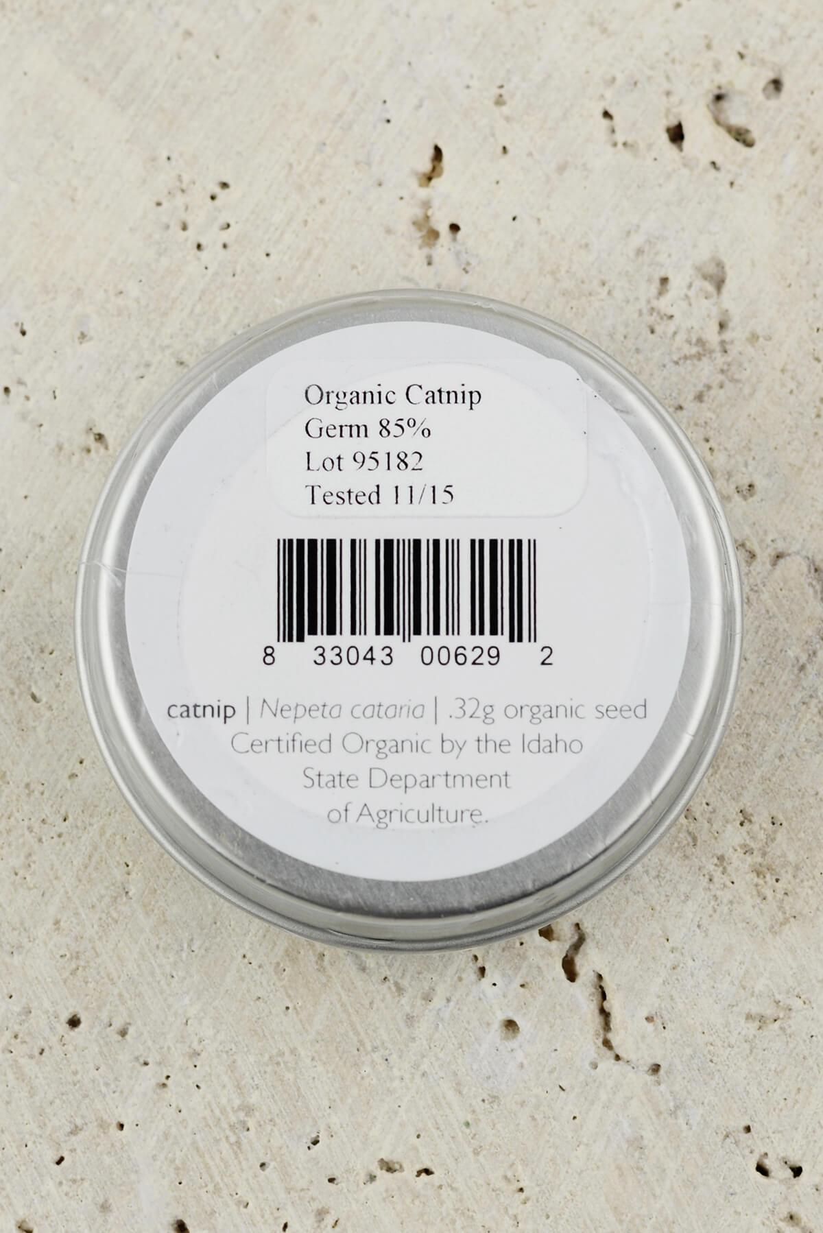 Organic Catnip Favor Seed Gift Tin