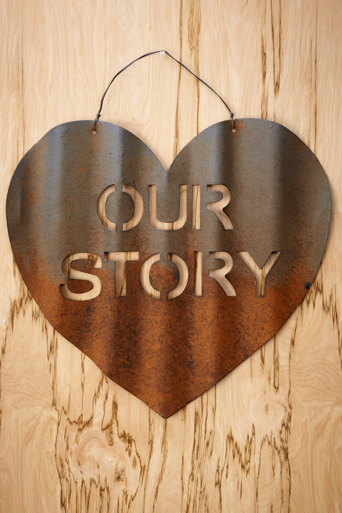 Spectacular Our Story Of Love Metal Wall Decor
